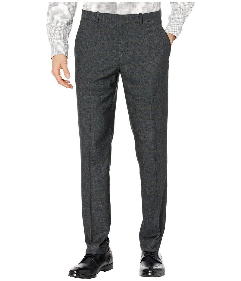 ペリーエリス メンズ カジュアルパンツ ボトムス Slim Fit Large Windowpane Dress Pants Brindle