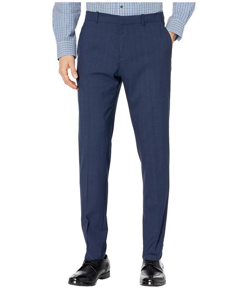 ペリーエリス メンズ カジュアルパンツ ボトムス Very Slim Subtle Plaid Dress Pants Navy