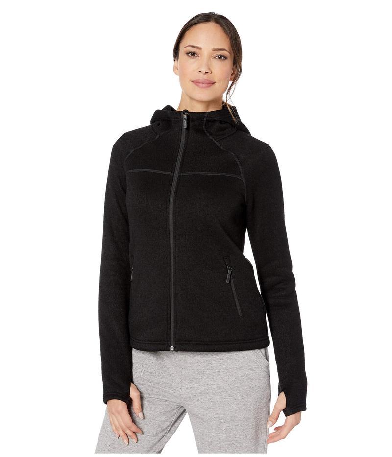 スマートウール レディース ニット・セーター アウター Hudson Trail Full Zip Fleece Sweater Black