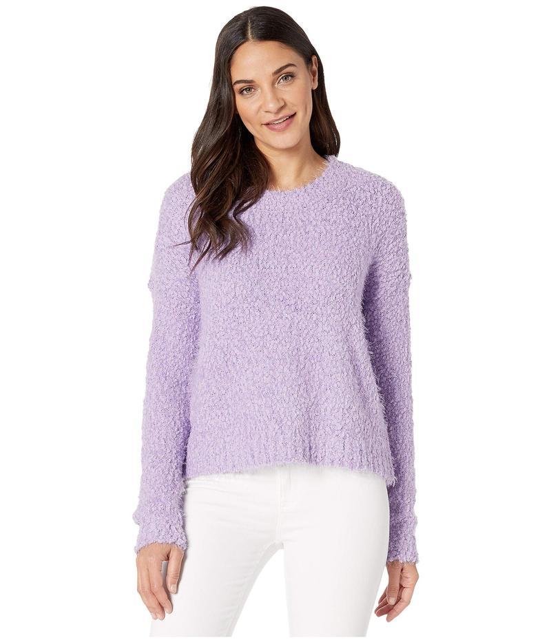 ウミーユアムーム レディース ニット・セーター アウター Cropped Varsity Sweater Lilac Knubby Kn