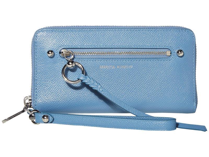 レベッカミンコフ レディース 財布 アクセサリー Gabby Phone Wallet Cement Blue