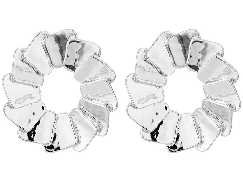 ロバートリーモリス レディース ピアス・イヤリング アクセサリー Square Stud Earrings Silver