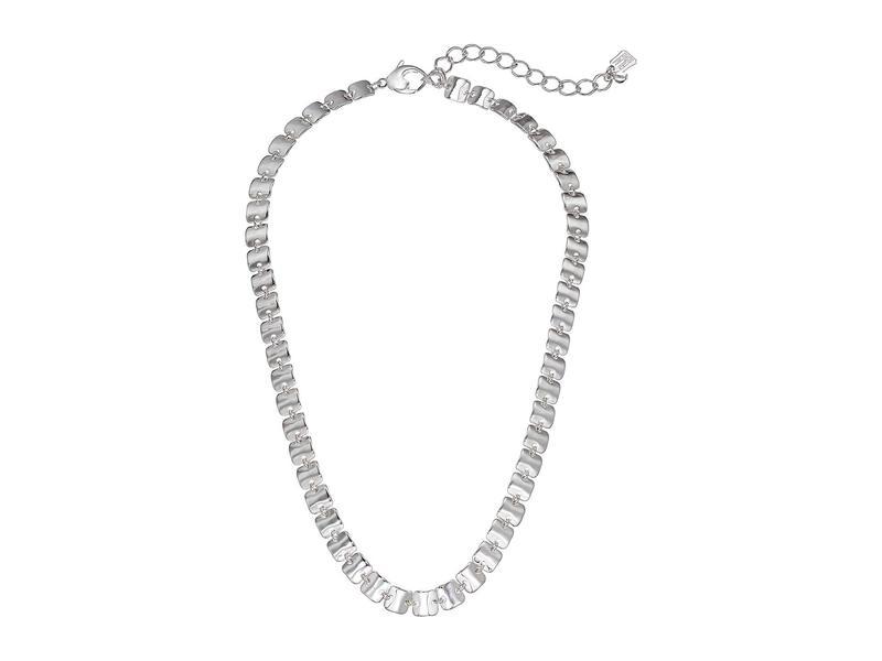 ロバートリーモリス レディース ネックレス・チョーカー・ペンダントトップ アクセサリー Square Link Collar Necklace Silver
