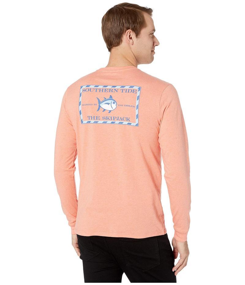 サウザーンタイド メンズ シャツ トップス Heather Original Skipjack Long Sleeve T-Shirt Heather Mango