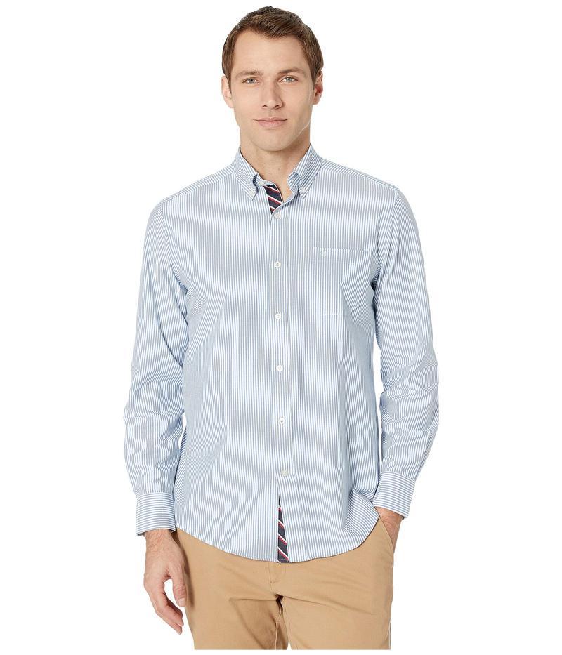 サウザーンタイド メンズ シャツ トップス Icy Stripe Stretch Oxford Sport Shirt Classic Blue