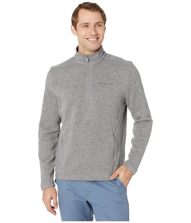 サウザーンタイド メンズ ニット・セーター アウター Samson Peak Sweater Fleece 1/4 Zip Pullover Steel Grey
