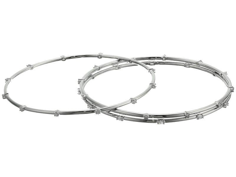 スワロフスキー レディース ブレスレット・バングル・アンクレット アクセサリー Penlope Cruz Moonsun Collection Bangle Bracelet with Stones CZ White