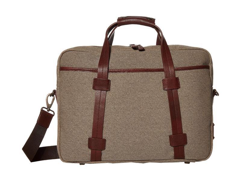 ボスカ メンズ PC・モバイルギア アクセサリー RFID Canvas/Washed Top Zip Laptop Bag Khaki/Brown