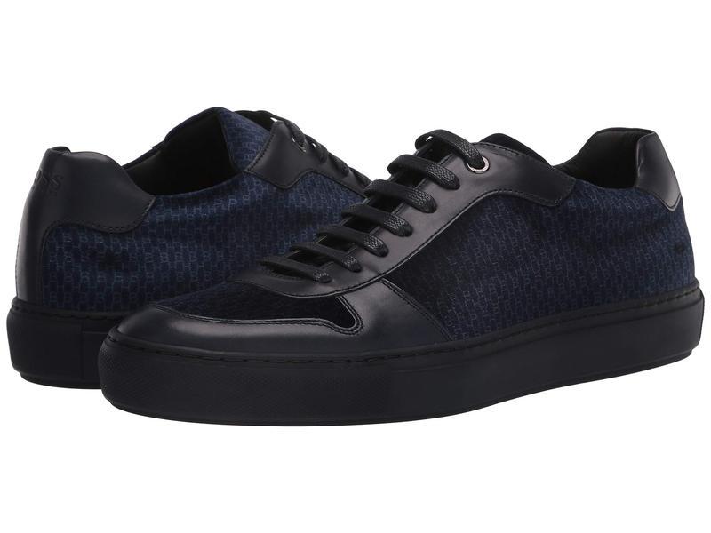 ヒューゴボス メンズ スニーカー シューズ Mirage Low Top Velvet Sneaker by BOSS Dark Blue