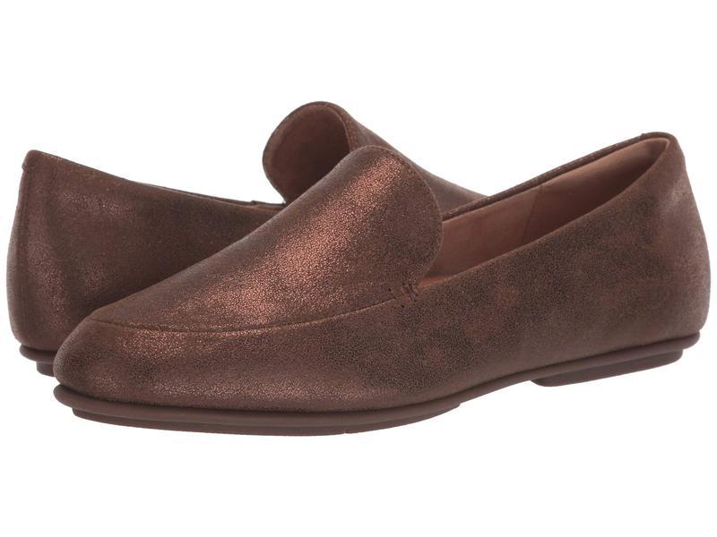 フィットフロップ レディース スリッポン・ローファー シューズ Lena Shimmer Loafers Chocolate Brown