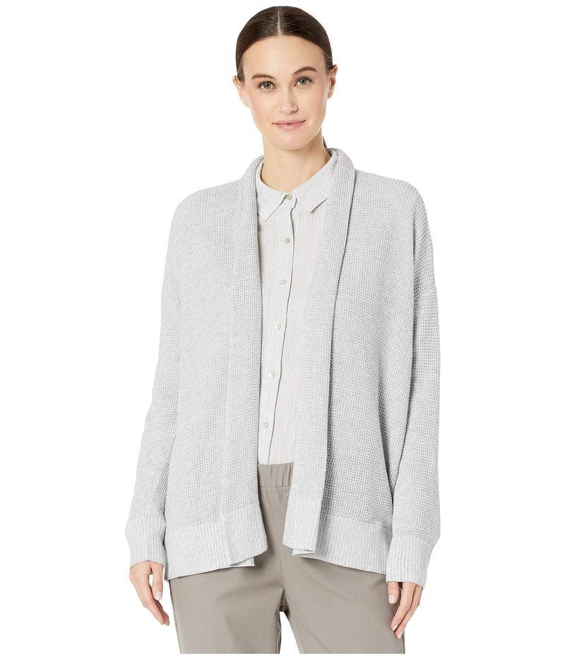 エイリーンフィッシャー レディース ニット・セーター アウター Peruvian Organic Cotton Kimono Cardigan Dark Pearl/Whit