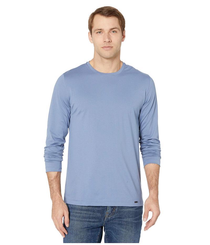 ハンロ メンズ シャツ トップス Night and Day Long Sleeve Shirt Caribbean Blue