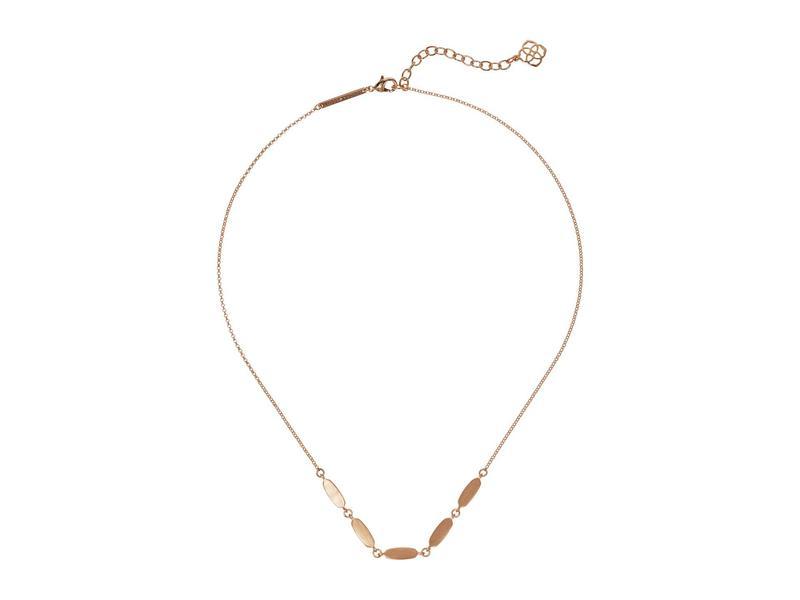 ケンドラスコット レディース ネックレス・チョーカー・ペンダントトップ アクセサリー Fern Short Strand Necklace Rose Gold Metal