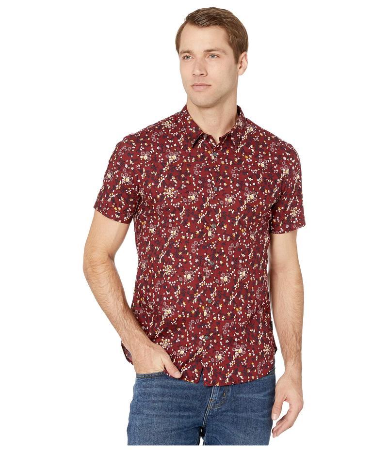 ジョンバルバトス メンズ シャツ トップス Jasper Regular Fit Short Sleeve Sport Shirt W508V4B Crimson