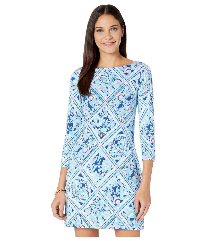 リリーピュリッツァー レディース ワンピース トップス UPF 50+ Sophie Dress Zanzibar Blue M