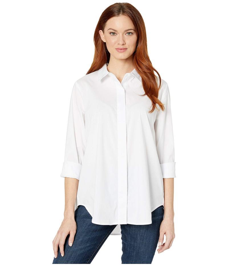 リバプール レディース シャツ トップス Shirt with Hidden Placket White
