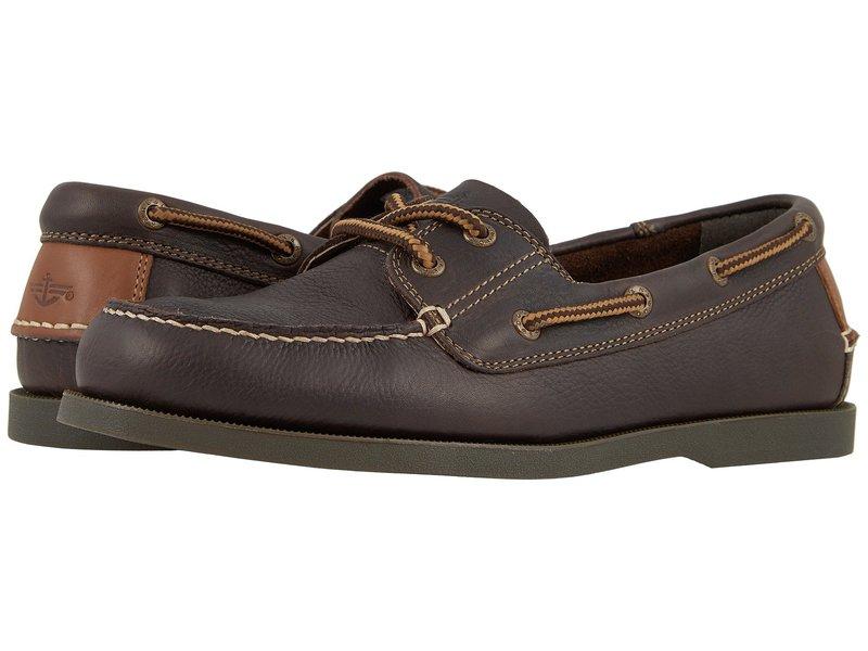 ドッカーズ メンズ デッキシューズ シューズ Vargas Boat Shoe Chocolate Oiled Tumbled Full Grain
