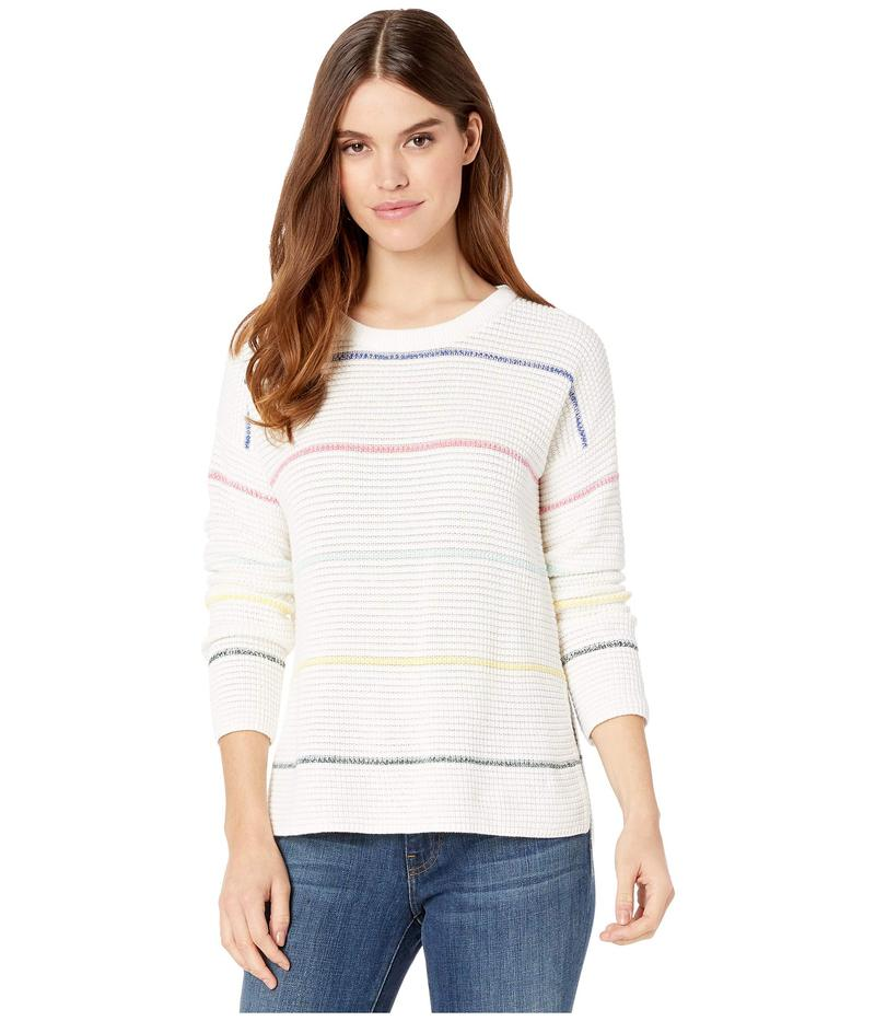 マイケルスターズ レディース ニット・セーター アウター Paige Striped Scoop Neck Pullover Sweater White Multi