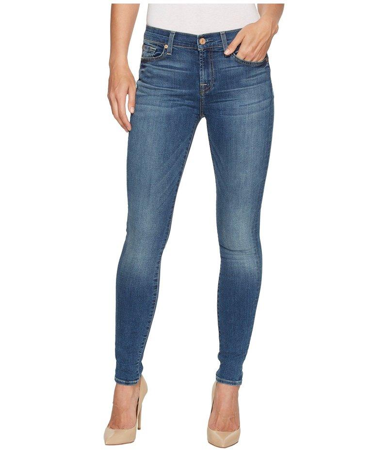 セブンフォーオールマンカインド レディース デニムパンツ ボトムス Skinny Jeans w/ Squiggle in Rich Coastal Blue Rich Coastal Bl