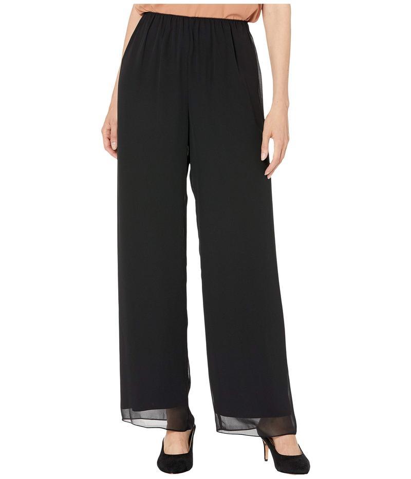 アレックスイブニングス レディース カジュアルパンツ ボトムス Silky Chiffon Basic Pants Black