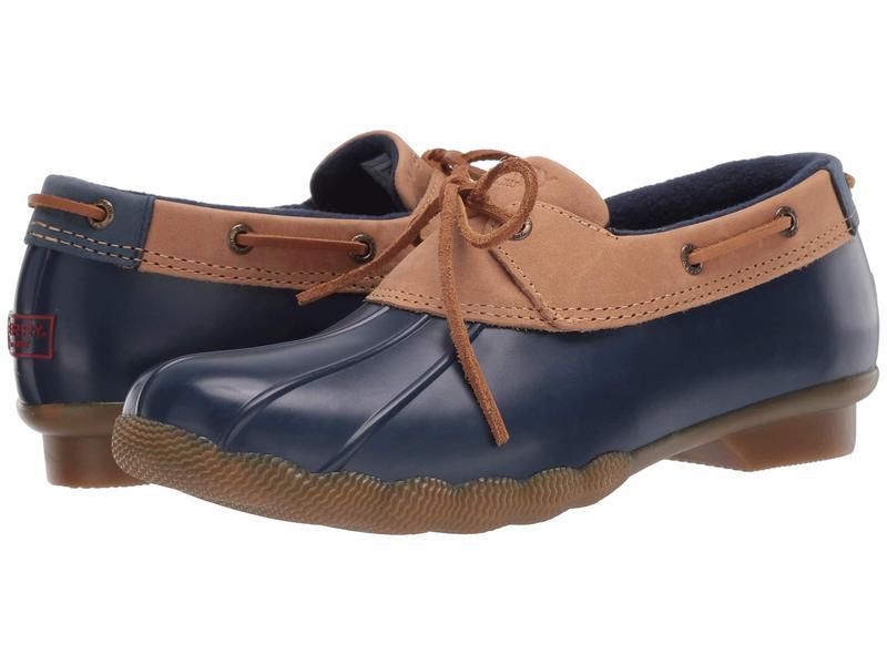 スペリー レディース ブーツ・レインブーツ シューズ Saltwater 1-Eye Duck Boot Tan/Navy