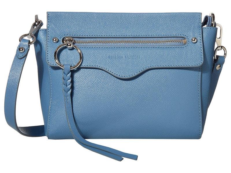 レベッカミンコフ レディース ハンドバッグ バッグ Gabby Crossbody Cement Blue