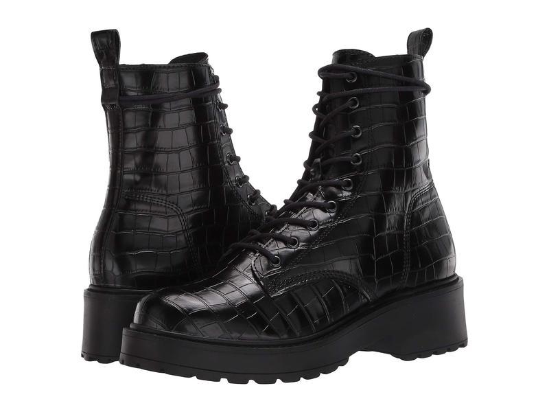 スティーブ マデン レディース ブーツ・レインブーツ シューズ Tornado Boot Black Croco