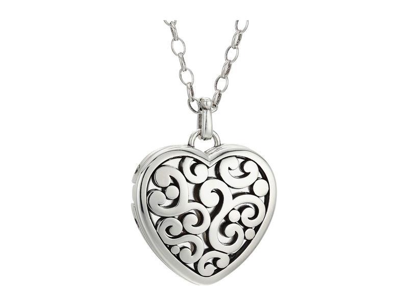 ブライトン レディース ネックレス・チョーカー・ペンダントトップ アクセサリー Contempo Heart Convertible Locket Necklace Silver