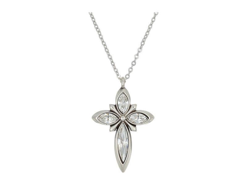 ブライトン レディース ネックレス・チョーカー・ペンダントトップ アクセサリー Spear Cross Charm Necklace Crystal