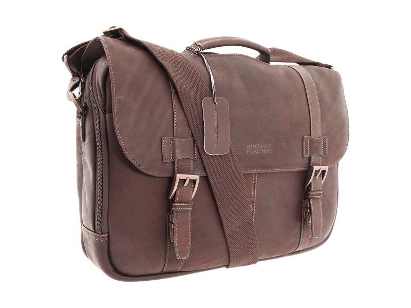 ケネスコール メンズ PC・モバイルギア アクセサリー Colombian Leather - Flapover Portfolio/Computer Case Dark Brown