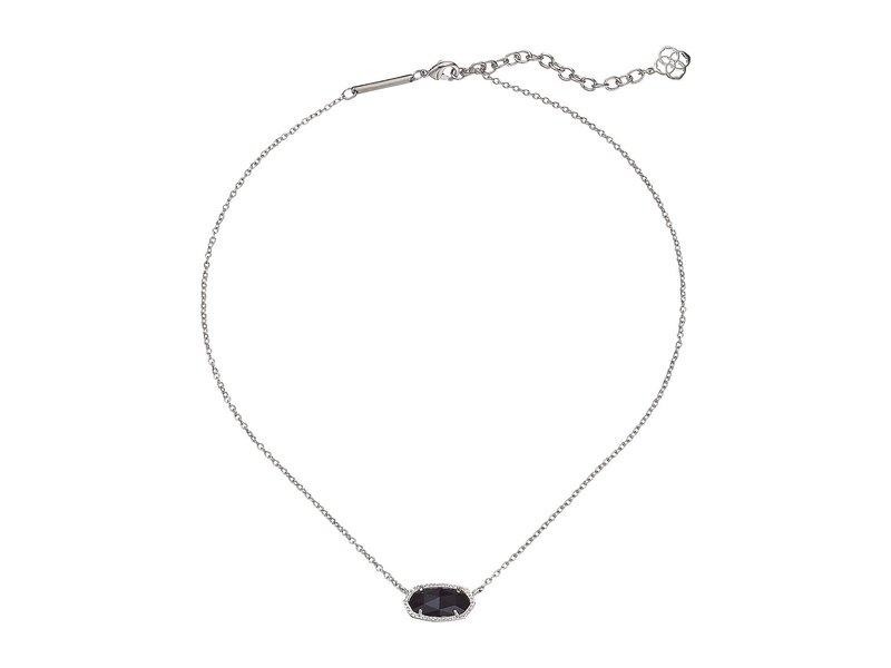 ケンドラスコット レディース ネックレス・チョーカー・ペンダントトップ アクセサリー Elisa Pendant Necklace Rhodium/Black