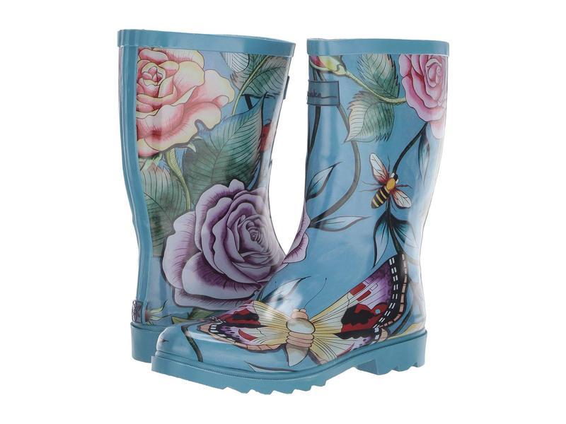 アヌスカ レディース ブーツ・レインブーツ シューズ Mid Calf Rain Boot Roses D'Amour
