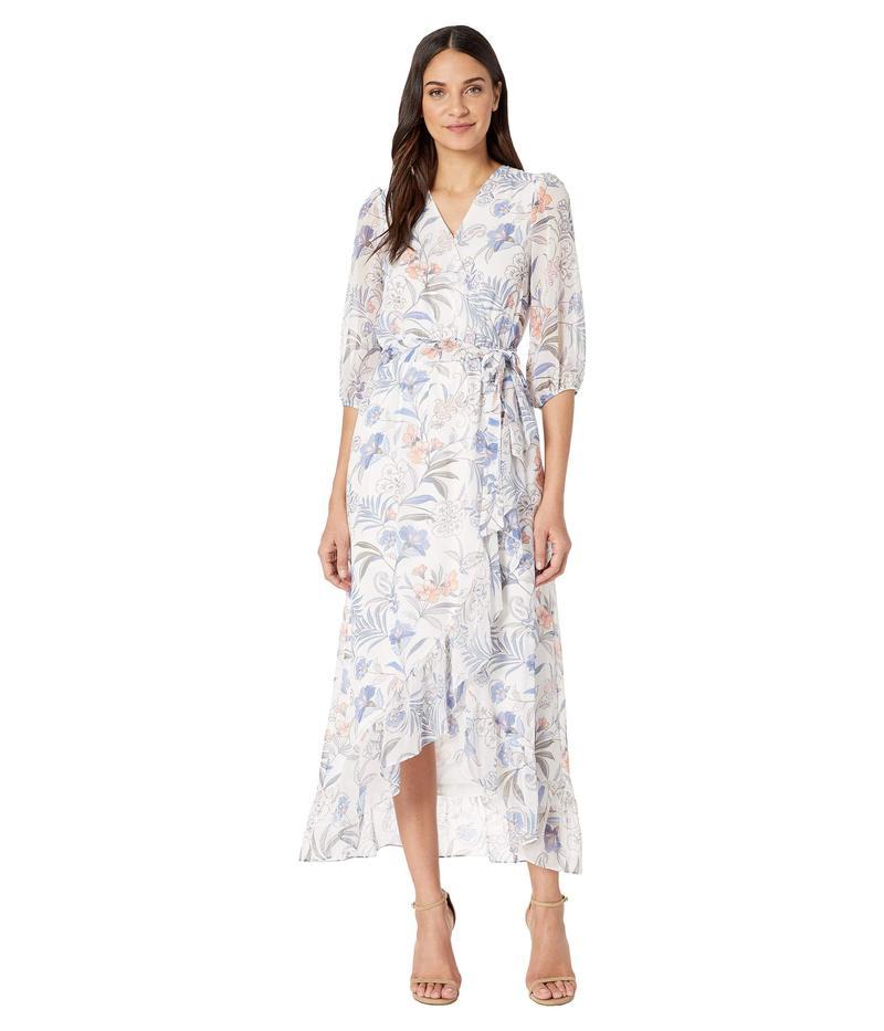 ワンステイト レディース ワンピース トップス Cross Front Tie Waist Paisley Dress Soft Ecru Multi