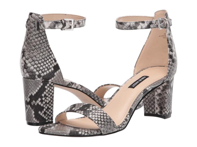 ナインウェスト レディース ヒール シューズ Pruce Block Heeled Sandal Gray Multi