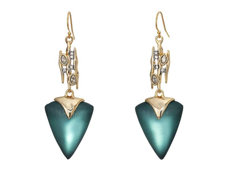 アレクシス ビッター レディース ピアス・イヤリング アクセサリー Navette Spiked Triangle Drop Wire Earrings Teal Blue