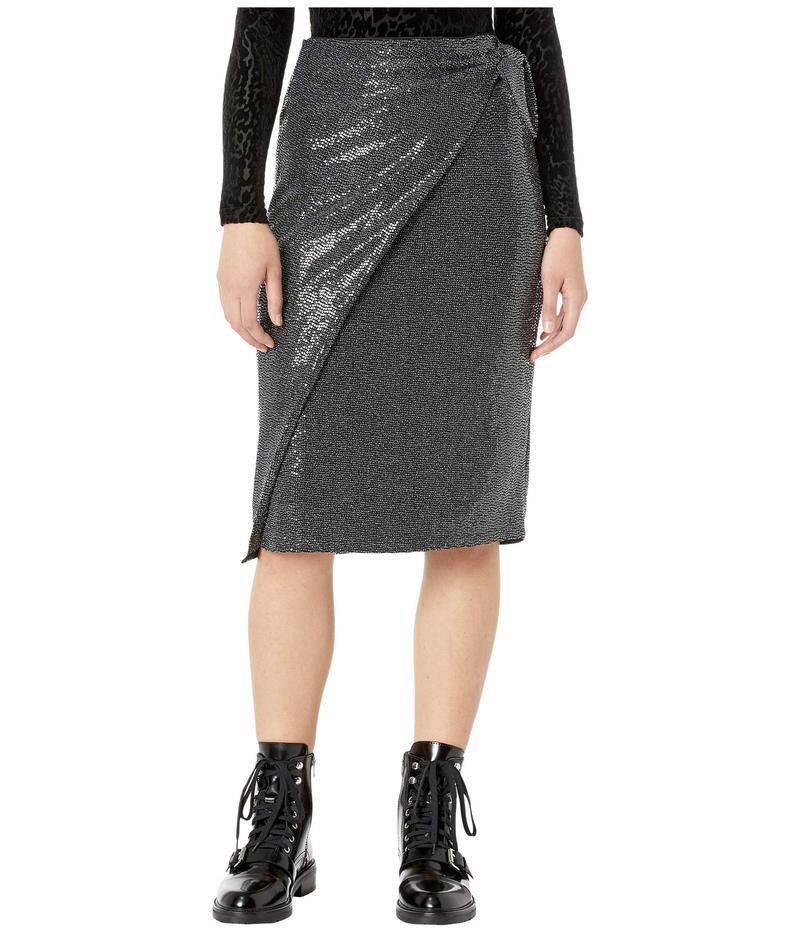 オールセインツ レディース スカート ボトムス Allegra Shimmer Skirt Black