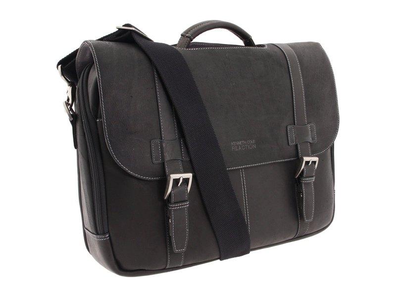 ケネスコール メンズ ビジネス系 バッグ Colombian Leather - Flapover Portfolio/Computer Case Black