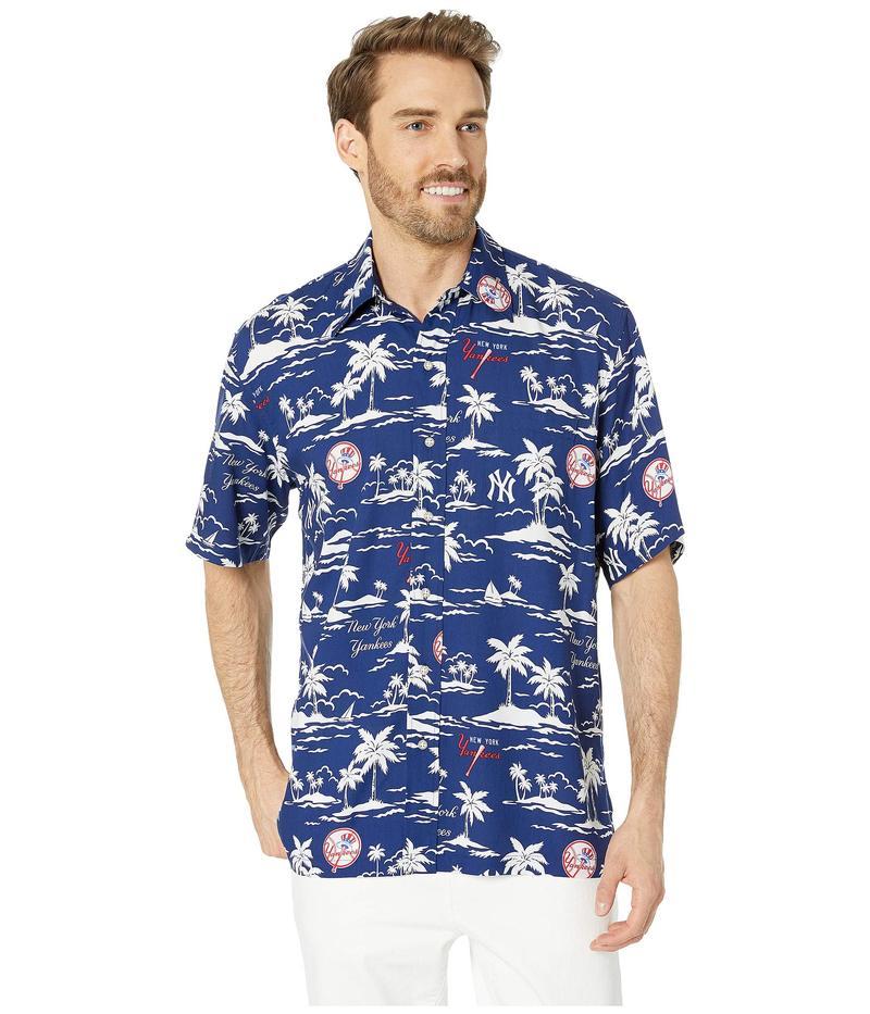 レインスプーナー メンズ シャツ トップス New York Yankees Vintage Rayon Shirt Navy