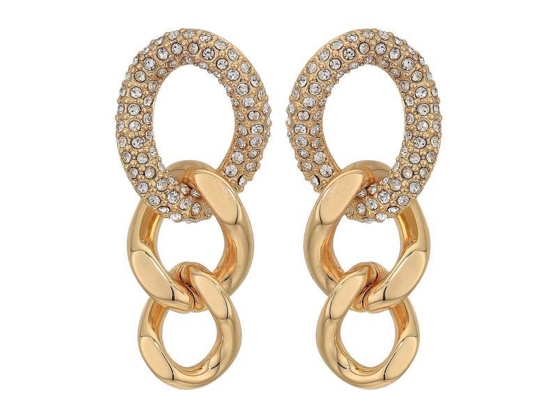 レベッカミンコフ レディース ピアス・イヤリング アクセサリー Pave Link Drop Earrings Gold