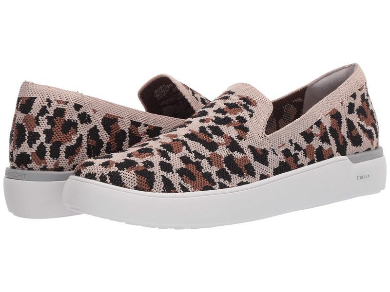 ロックポート レディース スリッポン・ローファー シューズ Truflex Parissa Loafer Tan Leopard