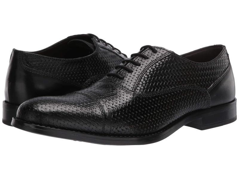 スティーブ マデン メンズ オックスフォード シューズ Mantel Oxford Black Leather