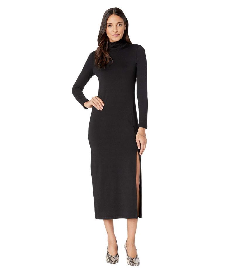 スサナモナコ レディース ワンピース トップス Long Sleeve Turtleneck Dress w/ Slit Black