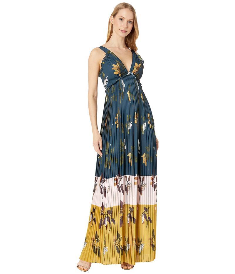 テッドベーカー レディース ワンピース トップス Kaylare Savanna Low V Maxi Dress Dark Blue