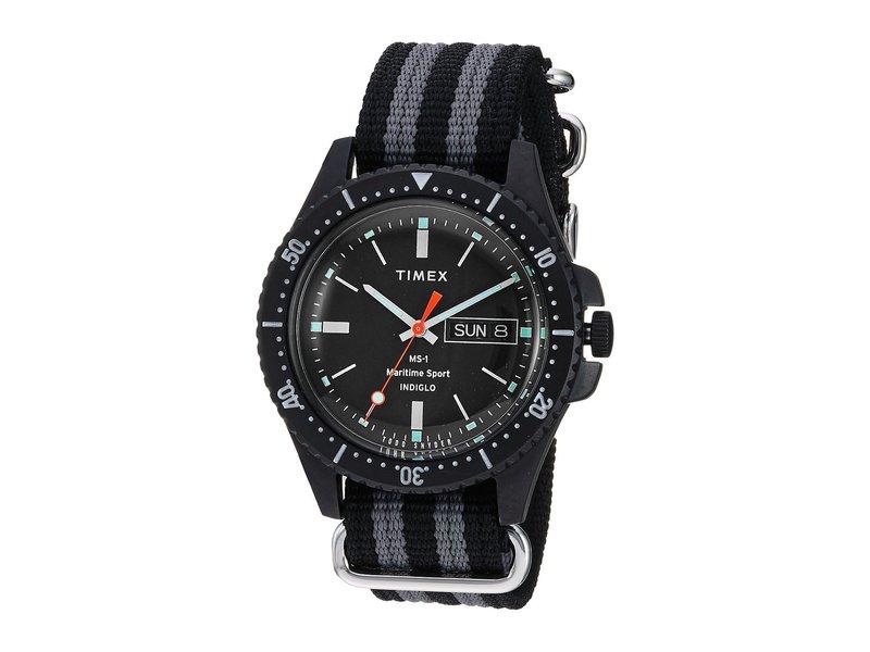 タイメックス メンズ 腕時計 アクセサリー Todd Snyder Maritime Sport 41mm Black/Grey