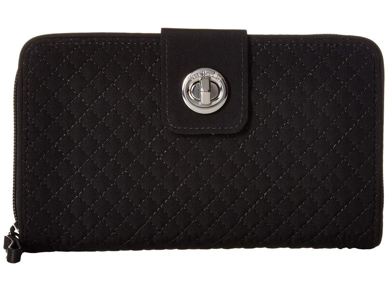 ベラブラッドリー レディース 財布 アクセサリー Iconic RFID Turnlock Wallet Classic Black