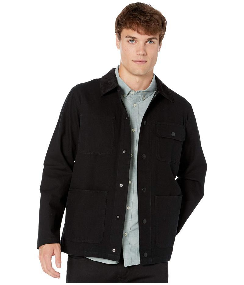 バンズ メンズ コート アウター Drill Chore Coat Jacket Black