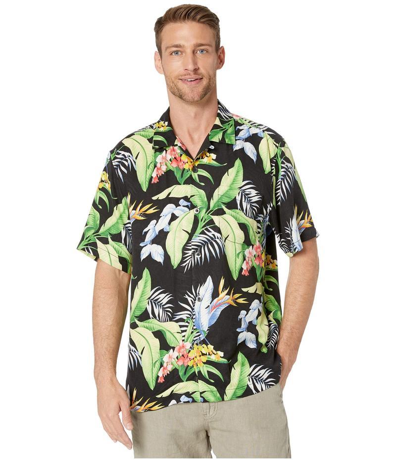 トッミーバハマ メンズ シャツ トップス Garden of Hope and Courage Short Sleeve Camp Shirt Black