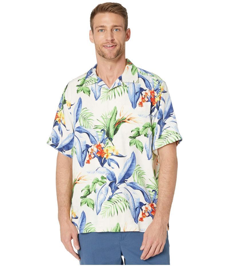 トッミーバハマ メンズ シャツ トップス Garden of Hope and Courage Short Sleeve Camp Shirt Marble Cream