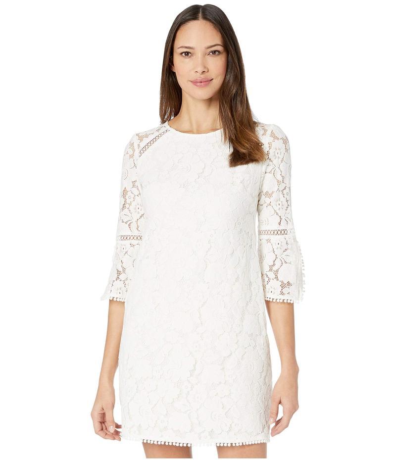 ヴィンスカムート レディース ワンピース トップス Lace Shift Dress w/ Trim Detail Ivory