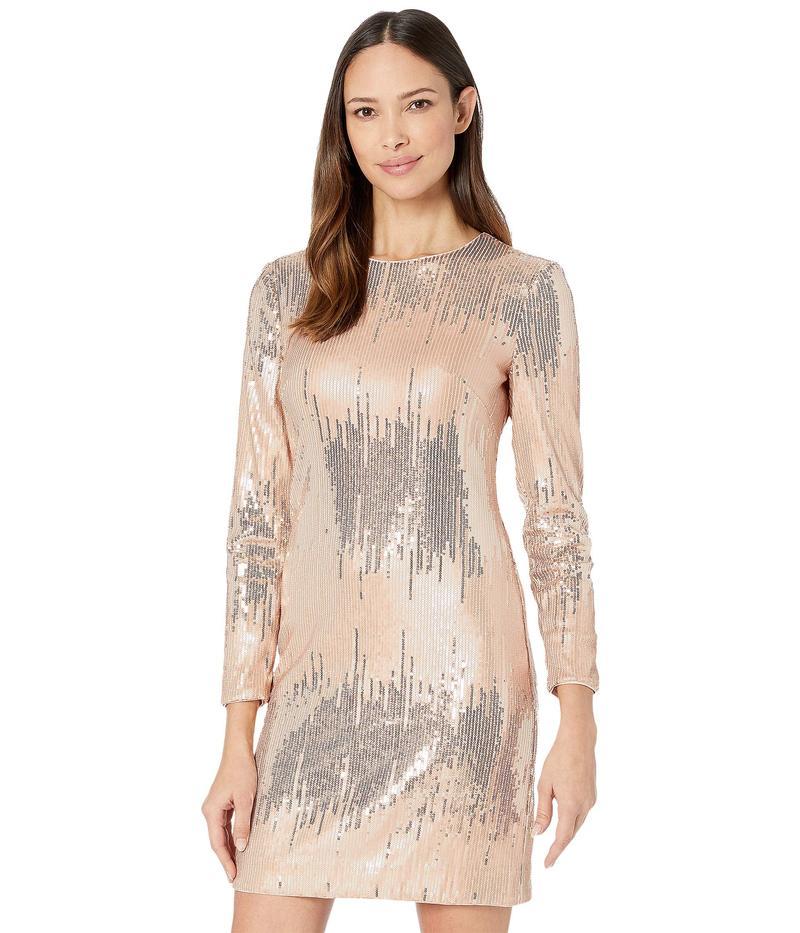 ヴィンスカムート レディース ワンピース トップス Sequin Long Sleeve T-Body Dress Blush